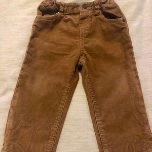 Burberry elastic waist Corduroy tan pants